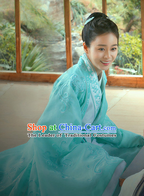 Chinese Costume Chinese Costumes National Garment Outfit Clothing Clothes Ancient Jin Dynasty Noblewoman Garment Outfits Dresses
