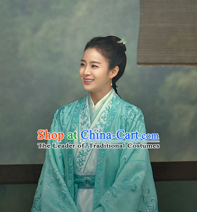 Chinese Costume Chinese Costumes National Garment Outfit Clothing Clothes Ancient Jin Dynasty People Clothing