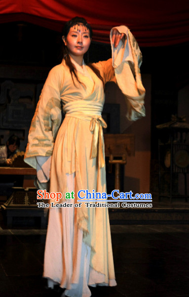 Chinese Costume Chinese Classic Costumes National Garment Outfit Clothing Clothes Ancient Jin Dynasty Female Dancer Costumes for Women