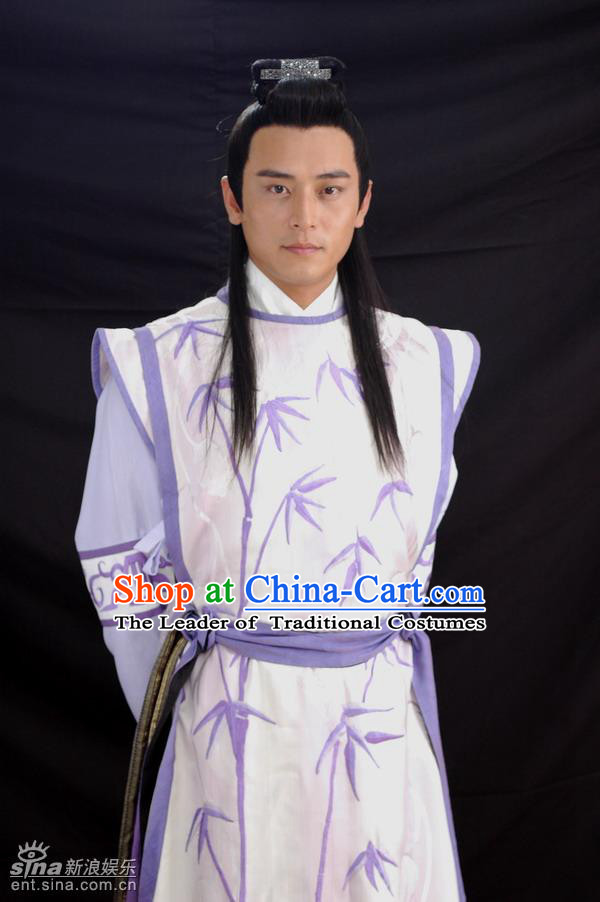 Chinese Costume Chinese Classic Costumes National Garment Outfit Clothing Clothes Ancient Jin Dynasty Scholar Men Costumes