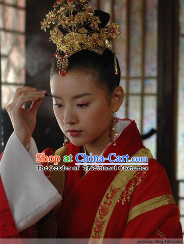 China Jin Dynasty Zhu Yingtai Liang Zhu Wedding Headdress