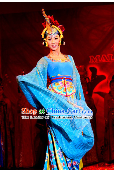 Period of the Northern and Southern Dynasties Chinese Costume Chinese Classic Palace Heroine Costumes National Garment Outfit Clothing Clothes for Women