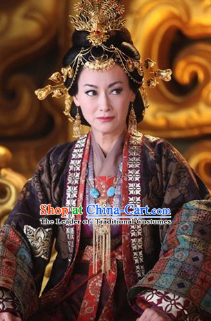 Chinese Ancient Palace Imperial Head Wear Headdress Five Dynasties Empress Hair Jewelry Hairpins