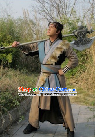Chinese Costume Sui Dynasty Period Knight Warrior Superhero Costumes Chinese Clothing Complete Set for Men