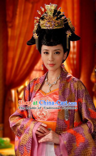 Chinese Tang Dynasty Queen Princess Headwear Hair Jewelry for Women