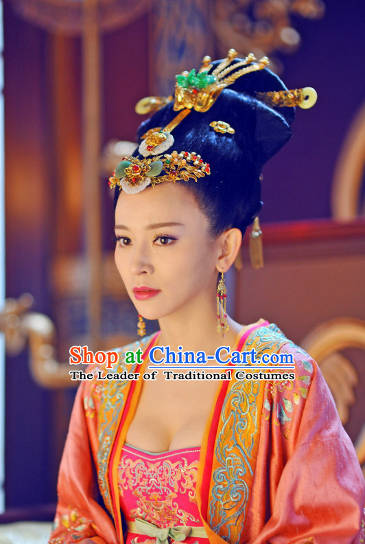 Chinese Tang Dynasty Imperial Queen Princess Hair Accessorise Fascinator Headpieces Hair Sticks Hairpins Hair Clips Hair Ornaments for Women