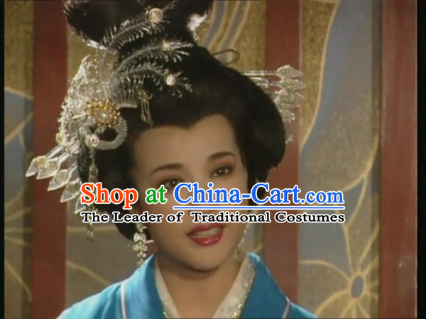 Chinese Tang Dynasty Imperial Queen Princess Phoenix Hair Accessorise Fascinator Headpieces Hair Sticks Hairpins Hair Clips Hair Ornaments for Women