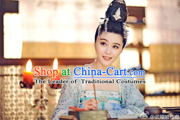 Chinese Tang Dynasty Princess Wigs Hair Accessories Fascinator Headpieces Hair Sticks Hairpins Hair Clips Hair Ornaments for Women