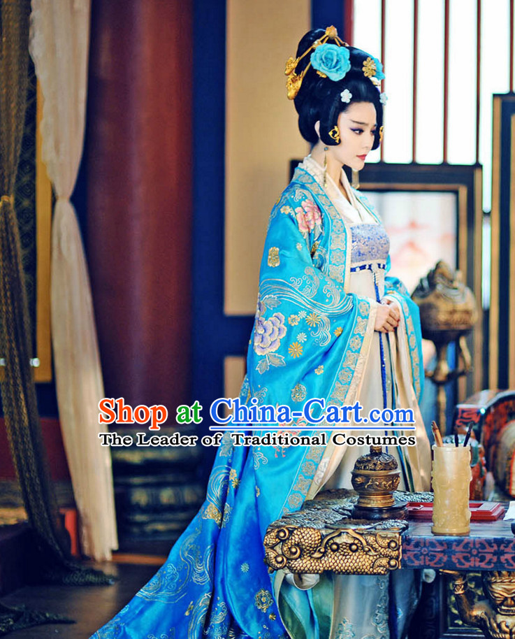 Chinese Tang Dynasty Princess Honghua Costumes Costume Complete Set for Women