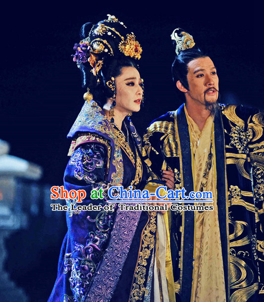 Tang Dynasty Emperor Gaozong of Tang and Wu Zetian Empress Costumes Prince Garment Outfits Clothing Costumes Costume Complete Sets for Men and Women