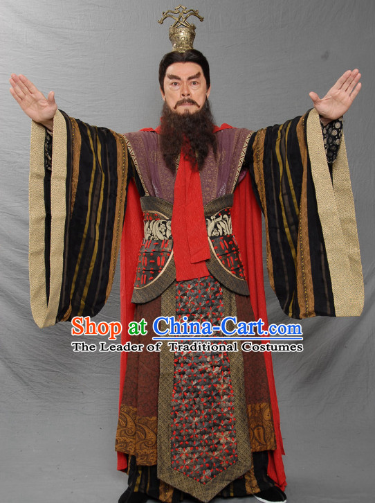 Ancient Chinese Costume Three Kingdoms Emperor Costumes Garment Outfits Clothing for Men  sc 1 st  China-Cart & Ancient Chinese Costume Three Kingdoms Military General and Warlord ...