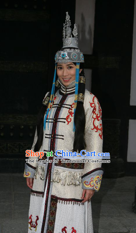 Yuan Dynasty Empress Princess Clothing Chinese Costume Complete Set for Women