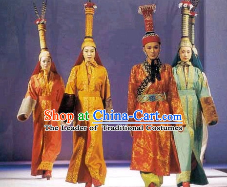 Yuan Dynasty Empress Garment Clothing Chinese Costume Complete Set for Women