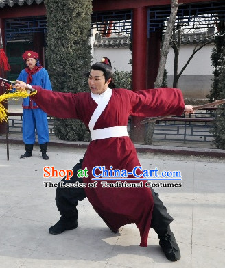 Song Dynasty Zhan Zhao Classic Costume Costumes Dresses Clothing Clothes Garment Outfits Suits Complete Set for Men