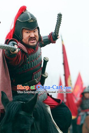 Song Dynasty General Di Qing Superhero Body Armor Costume Costumes Dresses Clothing Clothes Garment Outfits Suits Complete Set for Men
