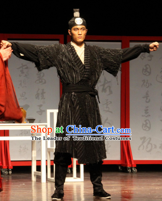 Song Dynasty Wu Song Water Margin Superhero Costume Costumes Dresses Clothing Clothes Garment Outfits Suits Complete Set for Men