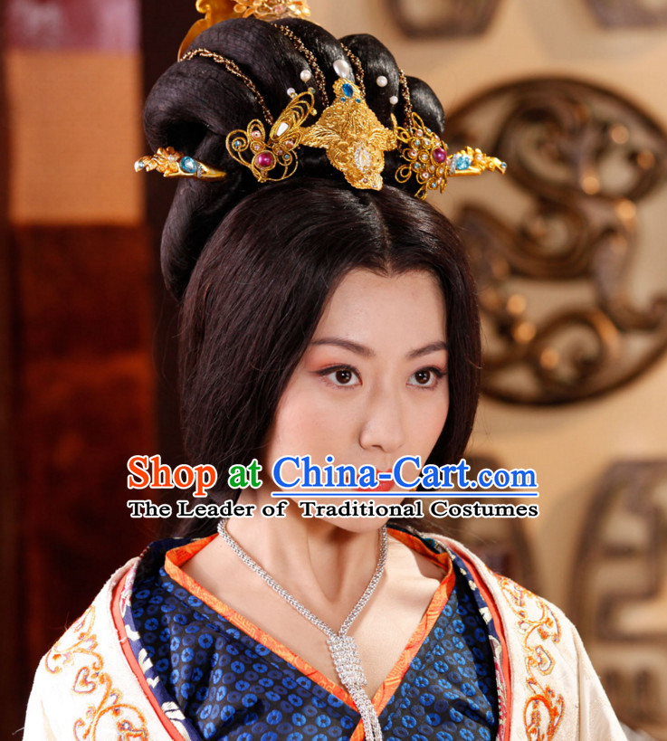 Han Dynasty Empress Black Wigs