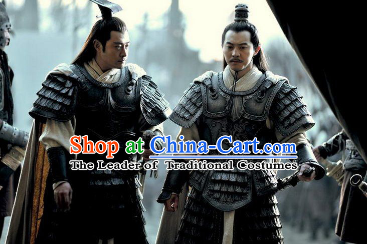 Chinese Han Dynasty Distinguished Military General Han Xin Costumes Dresses Clothing Clothes Garment Outfits Suits Complete Set for Men