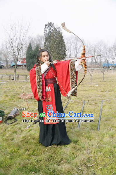 Chinese Qin Dynasty Prince Emperor Costumes Dresses Clothing Clothes Garment Outfits Suits Complete Set for Kids