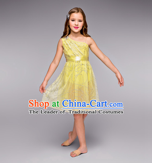 Kids Modern Dance Ballet Costumes Tutus Tu Tu Dancing Costumes Dancewear Dance Supply Free Custom Tailored Service for Children