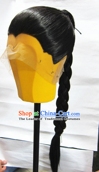 Ancient Chinese Han Dynasty Style Black Wigs for Men