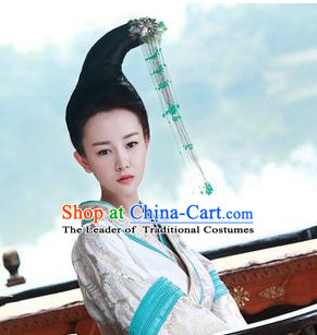 Ancient Chinese Palace Beauty Wig and Hair Jewelry