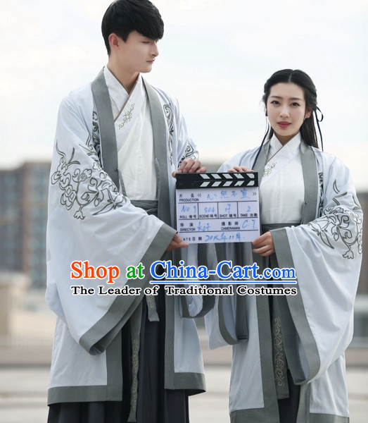 Ancient Chinese Costumes Kimono Couple Costumes Han Dynasty Wholesale Clothing Dance Costumes Cosplay for Men and Women
