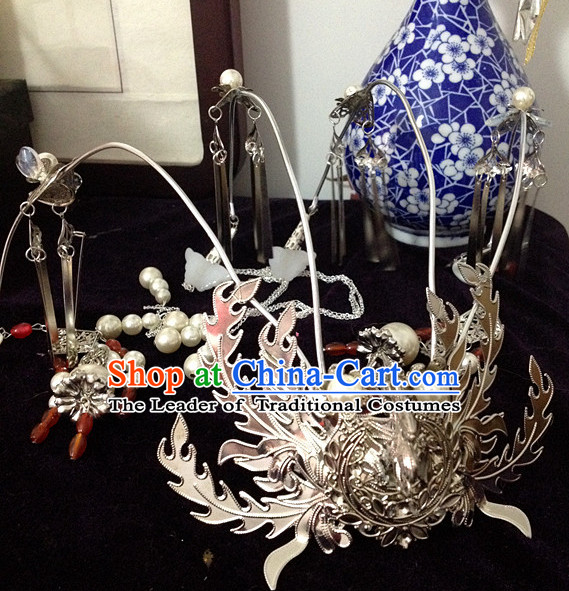 Chinese Ancient Style Imperial Crown Headwear Headpieces Hair Jewelry Hairpin for Women