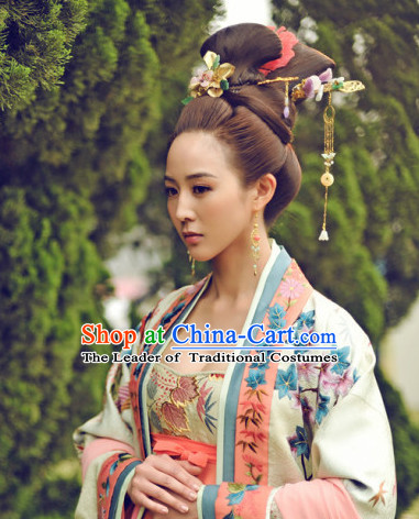 Chinese Ancient Style Wigs and Hair Jewelry Accessories Hairpins Headwear for Women