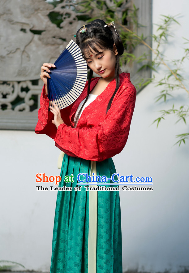 Chinese Couple Costume Chinese Costumes Hanfu Han Dynasty Ancient China Clothing Dress Garment Suits Complete Set for Women