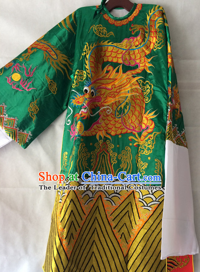 Chinese Opera Embroidered Dragon Robe Costume Traditions Culture Dress Masquerade Costumes Kimono Chinese Beijing Clothing for Men