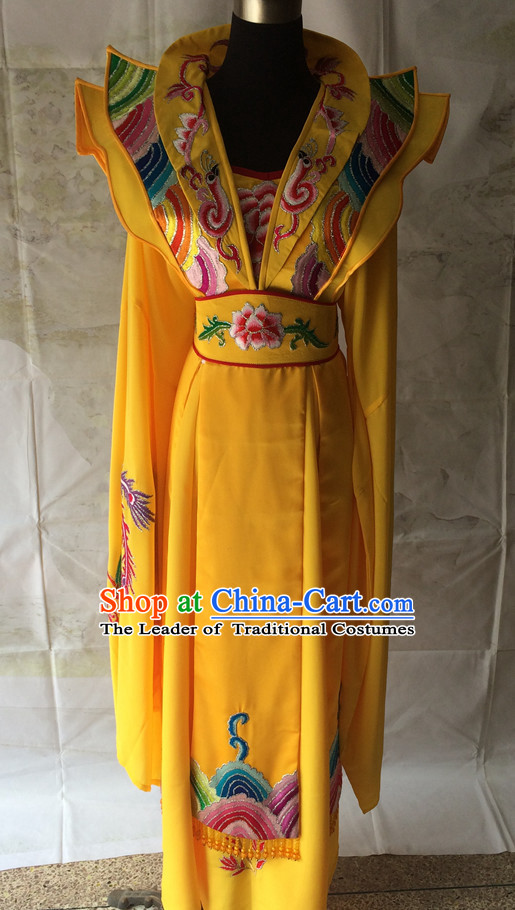 Chinese Opera Embroidered Phoenix Robe Empress Costume Traditions Culture Dress Masquerade Costumes Kimono Chinese Beijing Clothing for Women
