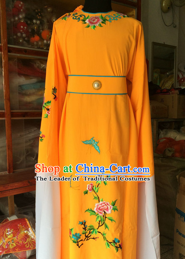 Chinese Opera Embroidered Scholar Robe Costume Traditions Culture Dress Masquerade Costumes Kimono Chinese Beijing Clothing for Men