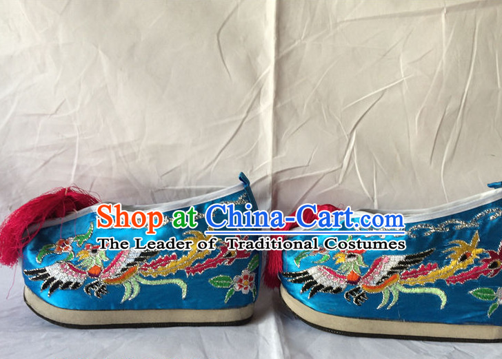 Chinese Traditional Opera Wedding Phoenix Shoes for Women