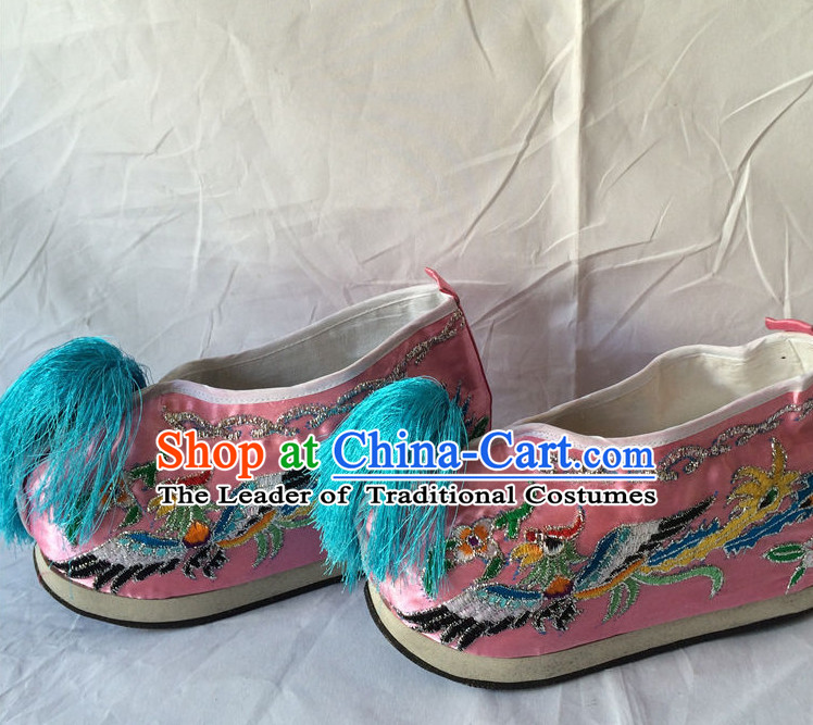 Classic Chinese Opera Embroidered Cranes for Women