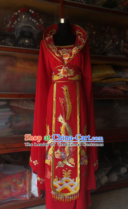 Chinese Opera Embroidered Empress Costume Traditions Culture Dress Masquerade Costumes Kimono Chinese Beijing Clothing for Women