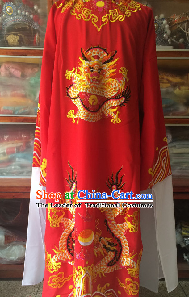Chinese Opera Prince Dragon Costume Traditions Culture Dress Masquerade Costumes Kimono Chinese Beijing Clothing for Men