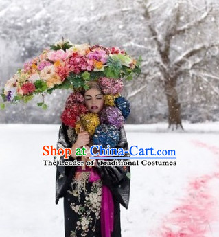 Chinese Handmade Flower Umbrella