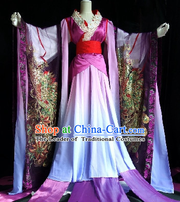 Chinese Classic Peacock Princess Costume Cosplay Complete Set for Women