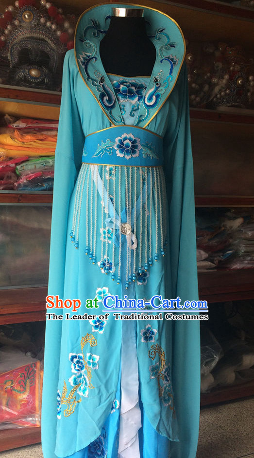 High Collar Chinese Opera Princess Wear Costume Traditions Culture Dress Kimono Chinese Beijing Clothing for Women