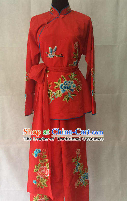 Red Chinese Opera Dresss Wear Costume Traditions Culture Dress Kimono Chinese Beijing Clothing for Women