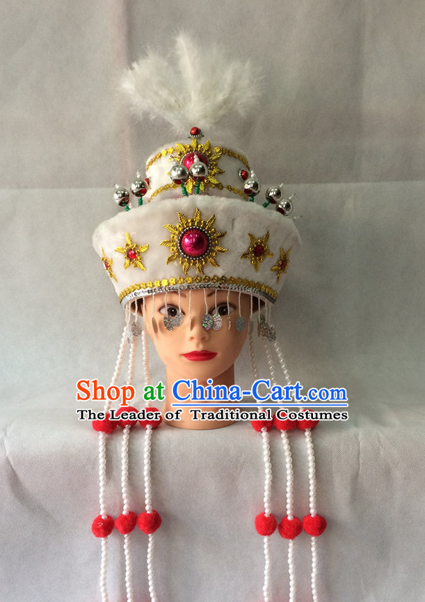 Chinese Opera Ethnic Prince Hat Helmet Hat Headwear Headpieces Headdress for Men