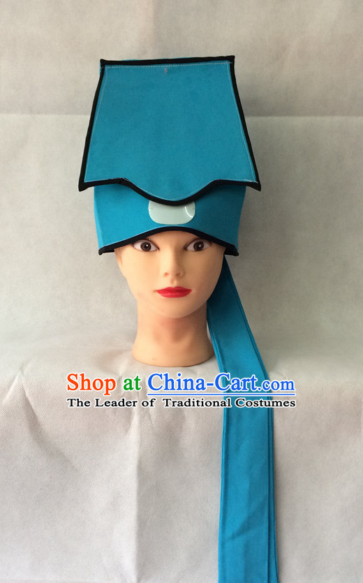Chinese Opera Scholar Hat Bodyguard Helmet Hat Headwear Headpieces Headdress for Men