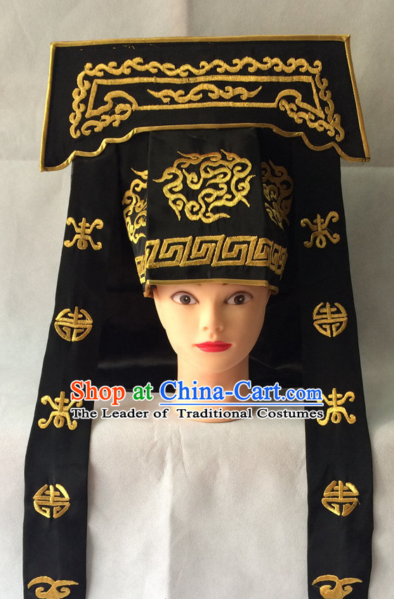 Chinese Opera Hat Bodyguard Helmet Hat Headwear Headpieces Headdress for Men