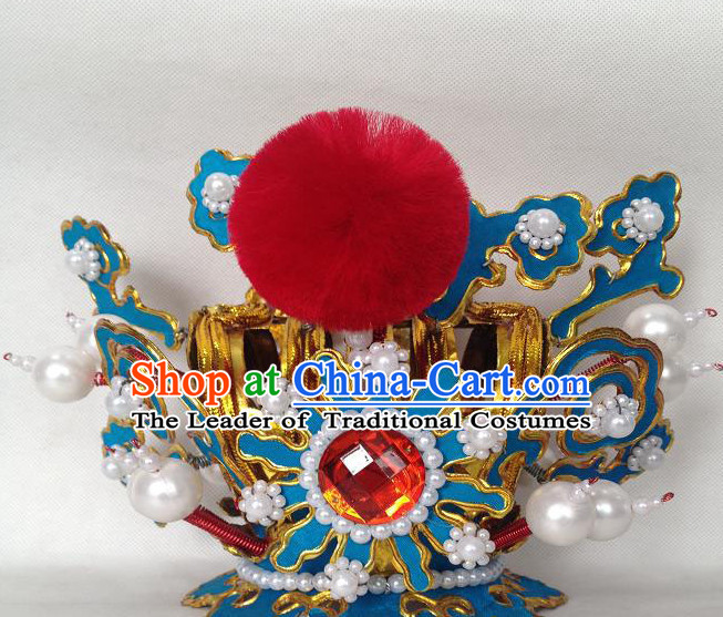 Chinese Opera Prince Headwear Headdress Hat Crown Headpieces