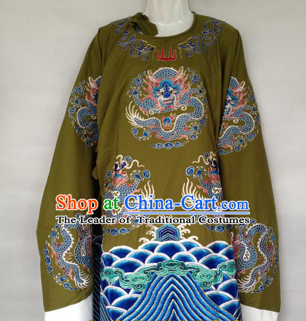 Chinese Opera Classic Dragon Embroidered Robe Official Costumes Chinese Costume Dress Wear Outfits Suits for Men