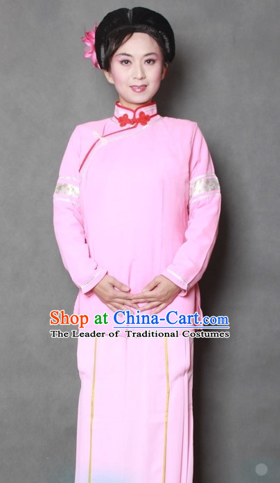 Chinese Opera Classic Waiter Costume Dress Wear Outfits Suits Mantle for Women