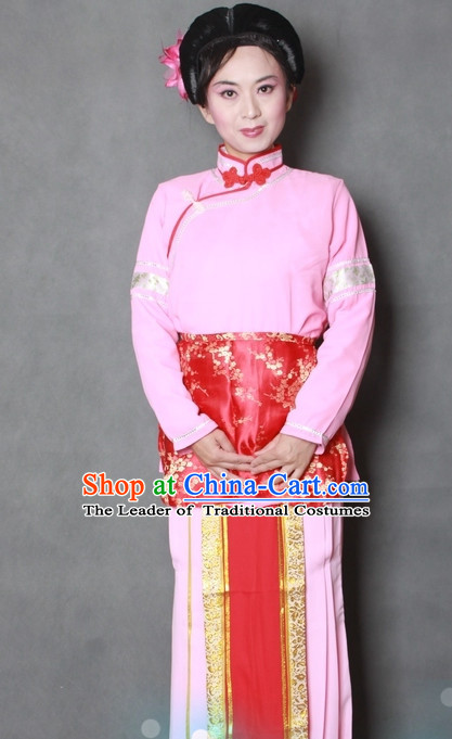 Chinese Opera Classic Housewife Waitress Costume Dress Wear Outfits Suits for Women
