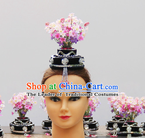 Chinese Dance Apparel Hair Jewelry North Korean South Korean Asian Fashion Wholesale Stage Performance Headdress Folk Decorations