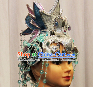 Chinese Dance Apparel Hair Jewelry Ethnic Classic Dancing Asian Fashion Wholesale Stage Performance Headdress Folk Decorations